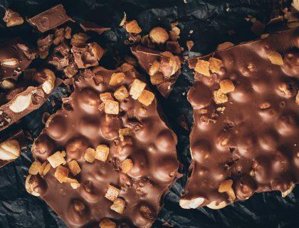 Belgijska čokolada na stolu