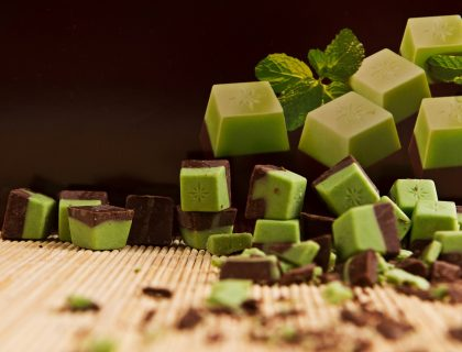 Zeleno crne kockice cokoladade