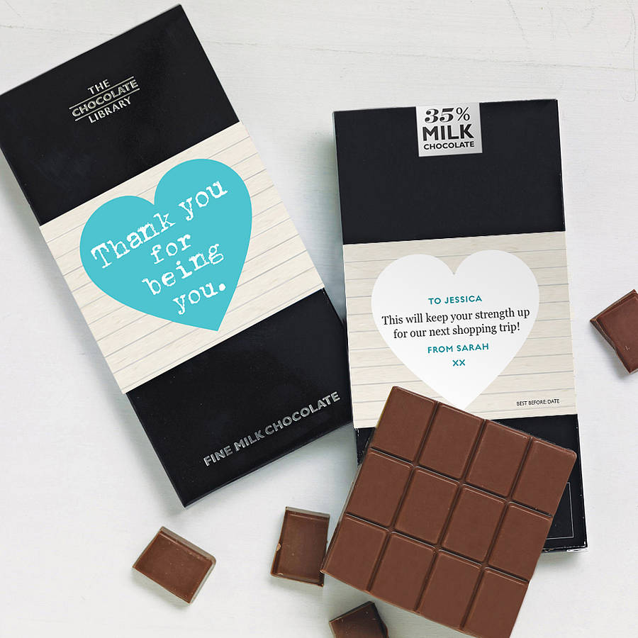 Chocolate with message