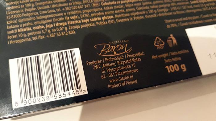 Poljska cokolada Baron