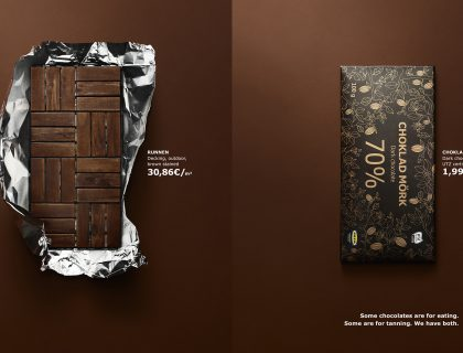 Ikea crna čokolada nameštaj poster