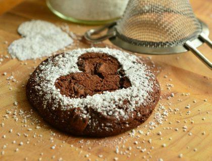 Čokoladni brownies u obliku srca