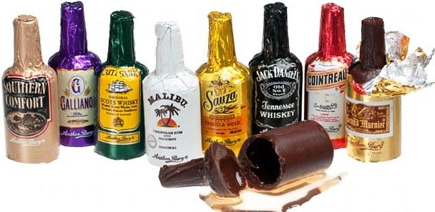 Čokolade sa ukusom alkoholnih pića