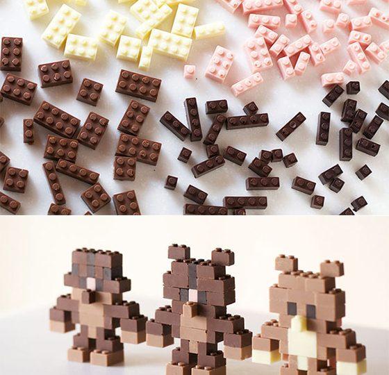 Lego kockice od čokolade