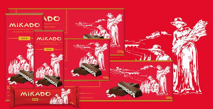Mikado čokolada sa rižom
