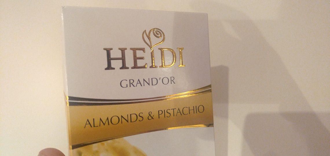 Heidi bela čokolada omot