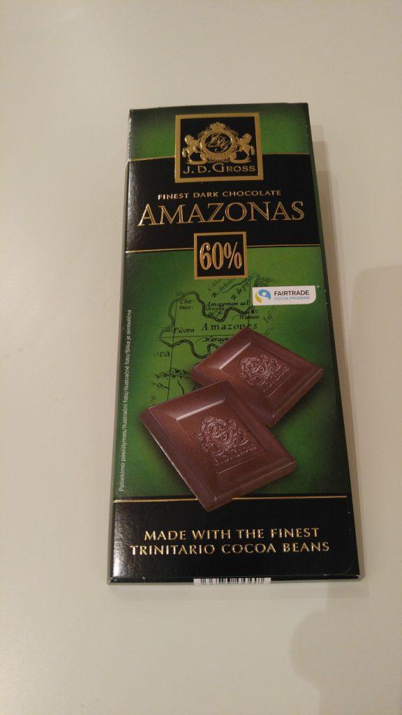 Amazonas crna čokolada Lidl