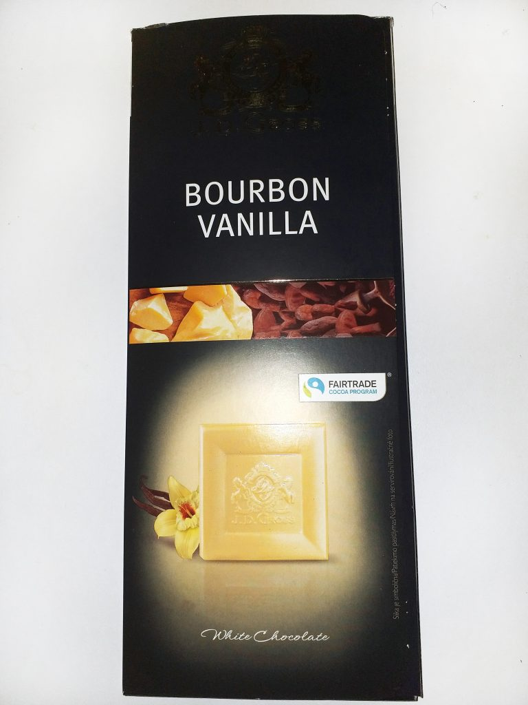 Bourbon vanilla bela cokolada